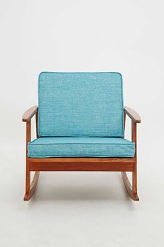 Mid Century Rocking Chair in Turquoise