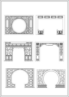 Indoor & Outdoor Decorative Screens Chinese window lattice Autocad Drawings, Cad Blocks and Cad Details The .DWG files are compatible back to AutoCAD These AutoCAD drawings are availab… Ancient Chinese Architecture, Chinese Buildings, Asian Architecture, Architecture Details, Interior Architecture, Interior Design, Classical Architecture, Modern Landscape Design, Landscape Architecture Design