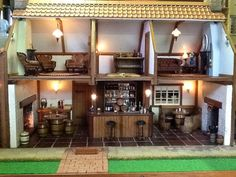 """For Sale - HAND MADE TRADITIONAL ENGLISH COUNTRY PUB 12th scale...""""NOW SOLD"""" - The Dolls House Exchange"""