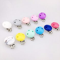 74b3e0909 BPA Free Food Grade Silicone Suspender Clip Beads Round Shape Plastic Dummy  Clip Silicone Pacifier Clip