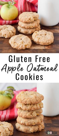 Celebrate the transition of summer into fall with fresh apple recipes, like these delicious and allergy friendly Gluten Free Apple Oatmeal Cookies! - Can an apple cider vinegar each day keep carefully the doctor away? Fall Cookie Recipes, Gluten Free Cookie Recipes, Apple Dessert Recipes, Allergy Free Recipes, Gluten Free Treats, Gluten Free Desserts, Vegan Desserts, Fall Recipes, Gluten Free Recipes With Apples