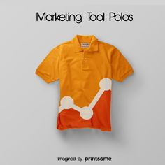 We believe that promotional t-shirts can be really cool. That's why we've designed awesome personalised polo shirts for the most famous marketing tools! #GooglyAnalytics #tool #polodesign