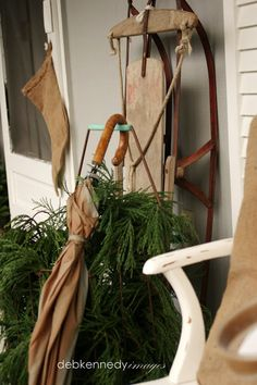 HOMEWARDfound Decor: Front Porch Holiday Decor: Raid the Garden Shed AGAIN!
