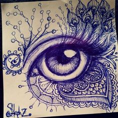 🖤Blackheart2225🖤 Sketches Of Eyes, Drawings Of Eyes, Cool Eye Drawings, Drawing Eyes, Art Drawings Sketches, Eye Sketch, Cool Sketches, Creative Sketches, Drawing With Pen