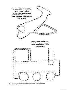 dopravní prostředky jedním tahem Thing 1, Worksheets, Map, Education, Creative, Kids Worksheets, Transportation, Studying, Toddlers
