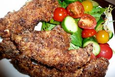 Bacon-crusted Chicken Strips #paleo