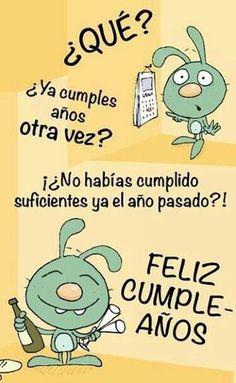Belated Happy Birthday Wishes, Happy Birthday In Spanish, Unique Birthday Wishes, Birthday Greetings, Embroidery Alphabet, Happy B Day, Funny Relationship, Birthdays, Messages