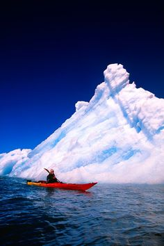 Sea kayaking in Columbia Bay, near Columbia Glacier, Prince William Sound, Valdez, Alaska...what an experience that would be.