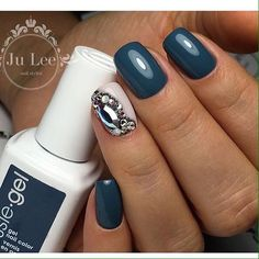 This is the wonderful evening variant of manicure. It looks effective with any your style and goes well with short ...