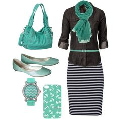 """Teal"" by fashion789-i on Polyvore"