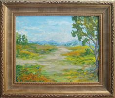 "JIM SPRADLEY, Listed California Impressionist, Original Oil Landscape  Original oil California landscape by listed artist Jim Spradley.  Measuring 16"" X 20"" oil on canvas board, it is signed by Spradley on the front L/L corner.  This painting is in excellent condition.    Jim Spradley was born in San Bois, Oklahoma on December 31, 1933.  Being self taught, and known for his acrylic California landscapes, Spradley has lived in California's San Joaquin Valley since 1941.  $175.00"