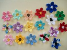 10 Large Flower appliques Choose your own Colors by TheLooks