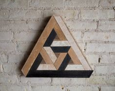 Teruggewonnen hout Wall Art Decor lat. geometrische patroon