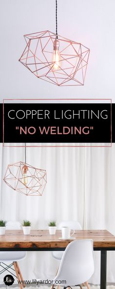 This Trendy Light Fixture is sso easy to make!! Secret on getting a welded look without welding!