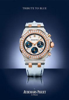 Audemars Piguet Royal Oak Chronograph Feminine - Bucherer Tribute to Blue - Perpetuelle