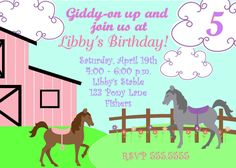 free printable horse party invites | Horse Party Invitations Printable Free free download. Get this nice ...