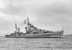 HMS Cleopatra, Dido-class Light Cruiser built by Hawthorne, Leslie & Co & commissioned on 05/12/41. Sent to Gib. sailed for Malta in early '42, damaged by bomb, sent to Alex. for repair, fought at Second Battle of Sirte reciving further damage. Participated most ops. in Med. On 1607/43 damaged by torpedo from Italian sub. Sent to Philadelphia for repairs, when completed in Nov.'44 sent to Far East where she was first ship back into Singapore. Scrapped  in '53.