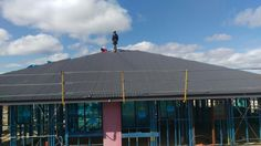 Roof going on