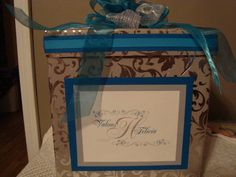 Custom wedding card boxes by RayneDropDesigns on Etsy, $25.00