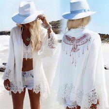 Γυναικεία Μπουρνούζια Lace Crochet Καλοκαιρινά Μαγιό Μπικίνι Cover Up Beach Dress IO