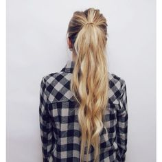 Pull Through Braid Hair Tutorial (Kassinka) ❤ liked on Polyvore featuring hair, cabelos, hair styles and people