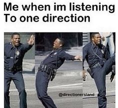 It's just awkward cuz thats what i listen to at school...all my non-directioner friends just stare at me:)
