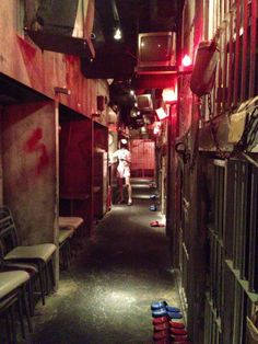 this is Alcatraz Horror theme restaurant in Japan. OMG!!! I love it I need to go here