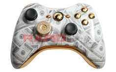 "Put your money where your mouth is with our new ""Money Talks"" Rapid Fire Modded Controller for Xbox 360. This controller features RapidModz.com custom ""Benjamins"" finish and includes gold inserts, gold buttons, bullet d-pad, and black thumbsticks. Available immediately. Order today! Here is the link for the video: http://www.youtube.com/watch?v=Wecjr5pMZSI=share=UUT0Ms5zD3HajSGh_un9pr_g"