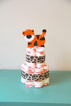 Honest Diaper Cake by BeachBaby - Safari Animal Centerpiece Set of 3 - http://www.babyshower-decorations.com/honest-diaper-cake-by-beachbaby-safari-animal-centerpiece-set-of-3.html