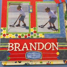 Scrapbook Page | Brandon Decal