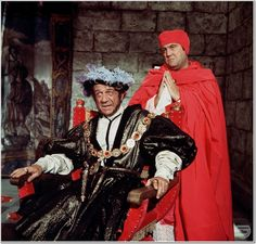 Sidney James and Terry Scott. Carry On Henry. 1971