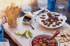 Warm Cheese and Glazed Pecan Dip