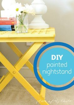 Easily brighten up your bedroom nightstand with a splash of color.