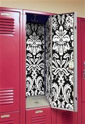 Locker Lookz Wallpaper Black/White Damask 2014 Locker