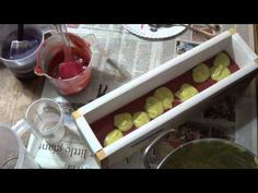 Making Raspberry Ripple Hemp Oil Vegan Silk Soap - YouTube
