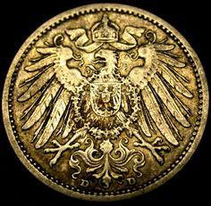 1906 D German Mark 90% Silver Eagle SEMI KEY DATE COIN Munich Mint Mark SHARP!