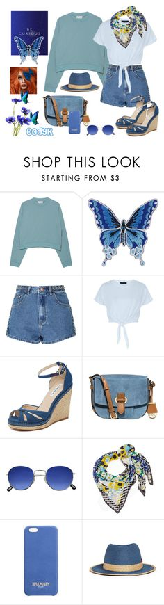 """Blues"" by cody-k ❤ liked on Polyvore featuring Acne Studios, Glamorous, L.K.Bennett, MICHAEL Michael Kors, Diane Von Furstenberg, Balmain and My Bob"