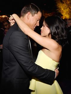 Inside the InStyle and Warner Bros. 2015 Golden Globes After-Party - Jenna Dewan-Tatum and Channing Tatum from #InStyle