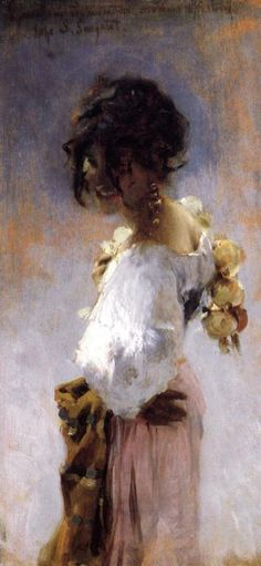 """ART PRINT POSTER 14/"""" X 11/"""" IN AN ORCHARD SARGENT JOHN SINGER 1622"""