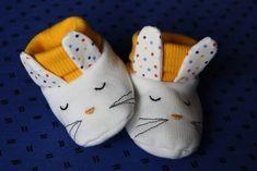 Tuto et patron chaussons bébé lapin
