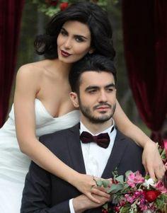 Свадьба в бархате. Жених и невеста фото