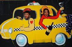 NYC Taxi Cut Out for Photo Booth