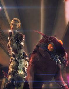 Jack and Eezo by *brinx-II on deviantART Mass Effect Jack, Mass Effect Games, Mass Effect Universe, Commander Shepard, Fans, Fan Art, Sci Fi, Creations, Deviantart