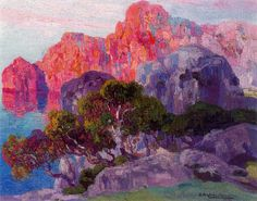 Hermenegildo Anglada Camarasa (Barcelona, 1871-1959) ~ La costa del Colomer. 1927