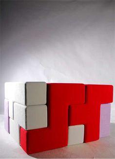 Tetris puzzle furniture