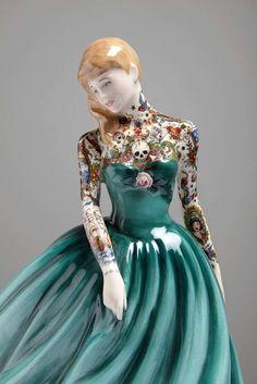 Jessica Harrison's Latest Series of Altered Ceramic Figures   Hi-Fructose Magazine