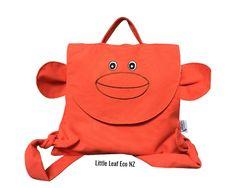 Monkey Backpack by LittleLeafEcoNZ on Etsy