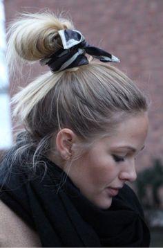 scarf bun