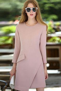 Pink Round Neck Dress