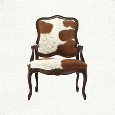 Halston Hide Dining Arm Chair @Beth J J J Giordano #COWHIDE #DECOR - I like the mix of formal style with rustic upholstery